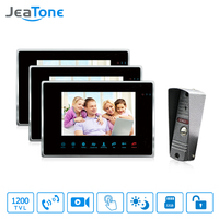 JeaTone 7 TFT HD Video Doorbell Camera Intercom System IP65 Waterproof Quality 3 Indoor Monitors