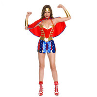 Sexy Adult Ladies Hero Girl Costume Dc Comic Wonder Woman Superhero Cosplay Outfit Halloween Fancy Party