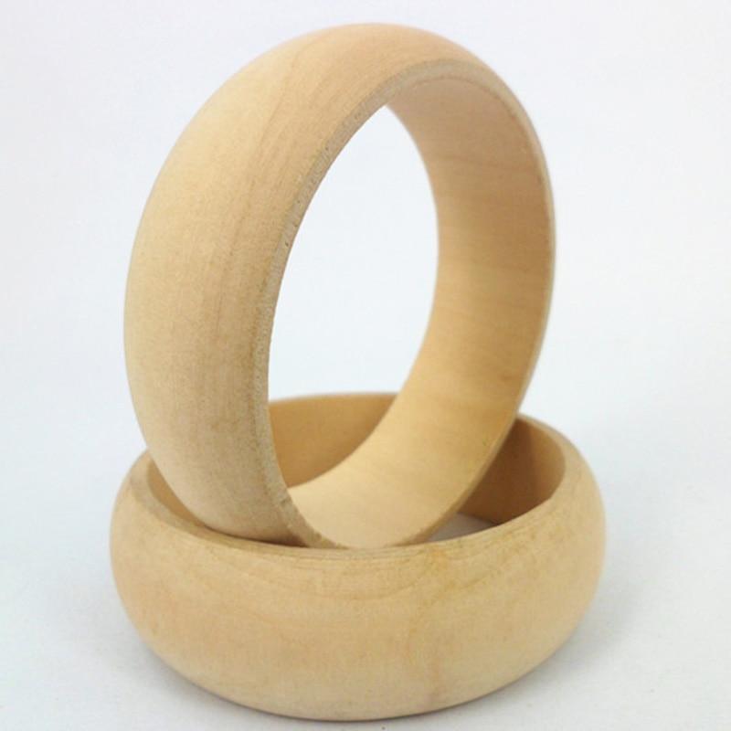 JINSE 20pcs Unpainted Wooden Bangles 2 20cm Width 6 60CM Inner Diameter Jewellery NaturalSupplies Plain Wooden WristletWOD053 20 in Bangles from Jewelry Accessories