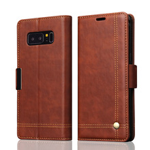Flip Leather Phone Cases For Samsung Galaxy Note 8 Case Wallet Pouch Style Card Slot Stand Cover For Samsung Galaxy Note 8