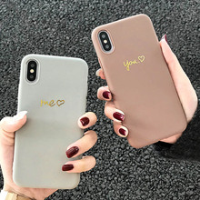 Newest Hot stamping Love heart phone cases for iphone 7 7plus XS Max X XR Soft silicone case For iphone 6 6s 7 8 plus back cover lovely heart liquid silicone back cover for iphone 6 6s 7 8 plus x case soft tpu phone cases for iphone xr xs max case cover