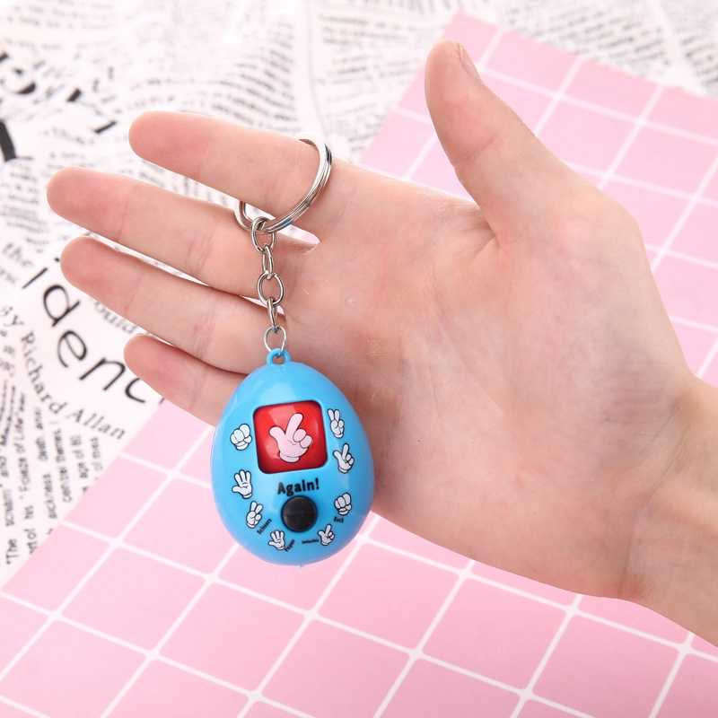 Guessing Kids Toys Rock-Paper-Scissors Toy for Children Magic Funny Antistress Toys Family Games Keychain Pendant Christmas Gift