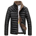 2017 High Quality Winter All-match Single Breasted Solid Men Coat Men Winter Jacket Parka Warm Popular Coat For Male Black Color