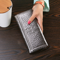 New Sale 100%Genuine Leather Women Wallets The Elephant Texture Design Stylish Elegant Famale Luxury Purse High capacity Handbag