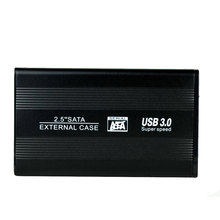 Aluminum Alloy External HDD Caddy 2.5inch SATA Interface USB 3.0 Speed 6Gb/s SSD Hard Drive Case
