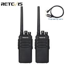 2 шт. 10 Вт DMR цифровое радио IP67 водонепроницаемый портативной рации 10 км Retevis RT81 UHF 400-470 мГц VOX Зашифрованные двусторонней радиосвязи Long Range