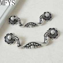 3 3.75 Drop Bail Dresser Pulls Drawer Pull Handles Antique Silver Black Rustic Kitchen Cabinet Handle Shabby Chic 76 96 mm
