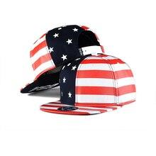 2018 Snapback Baseball Cap America Flag Men Rapper Hip Hop Cap Adjustable Casual Women Cotton Printed Unisex Hats bone gorras все цены
