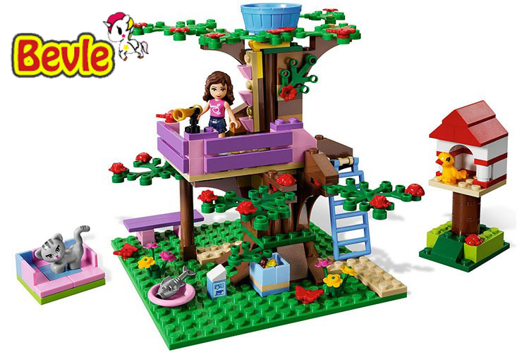 Bevle Bela 10158 Friends Olivia Tree House Toys Gift Building Block Toys Compatible with LEPIN lepin 22001 pirate ship imperial warships model building block briks toys gift 1717pcs compatible legoed 10210