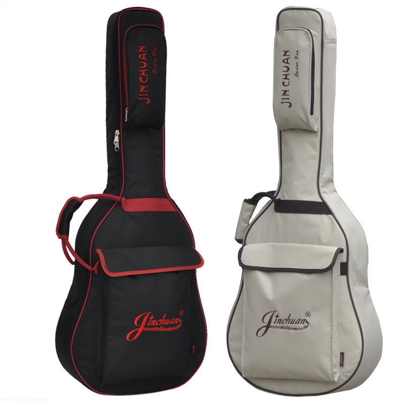 Thickening sponge waterproof folk guitar backpack acoustic guitar bags 40 41inch thick cover waterproof wooden guitar case bags portable double shoulders 40inch 41inch wood guitar case 41inch 42inch ballad guitar cover plus 42inch acoustic guitar bag parts