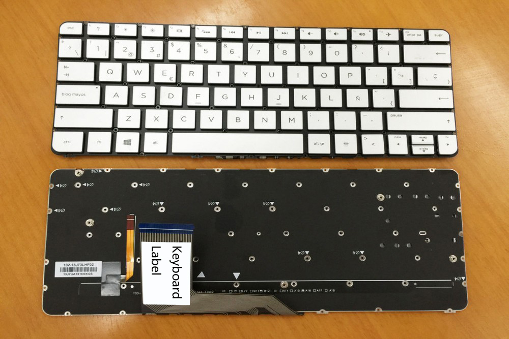 New keyboard for HP Spectre X360 13T 13-4001DX 13-4005DX 13-4003dX backlit Spanish/us layout