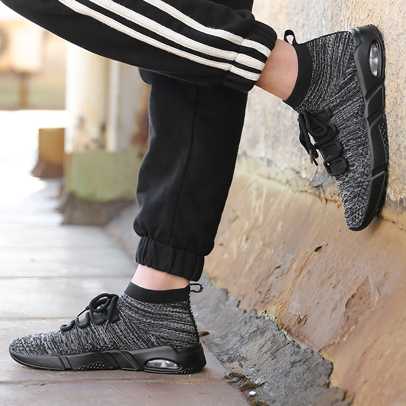Mens Air Cushion Running Shoes Outdoor Breathable Mesh Jogging Designer Sneakers 2018 Summer Male Black Sports Walking Shoes