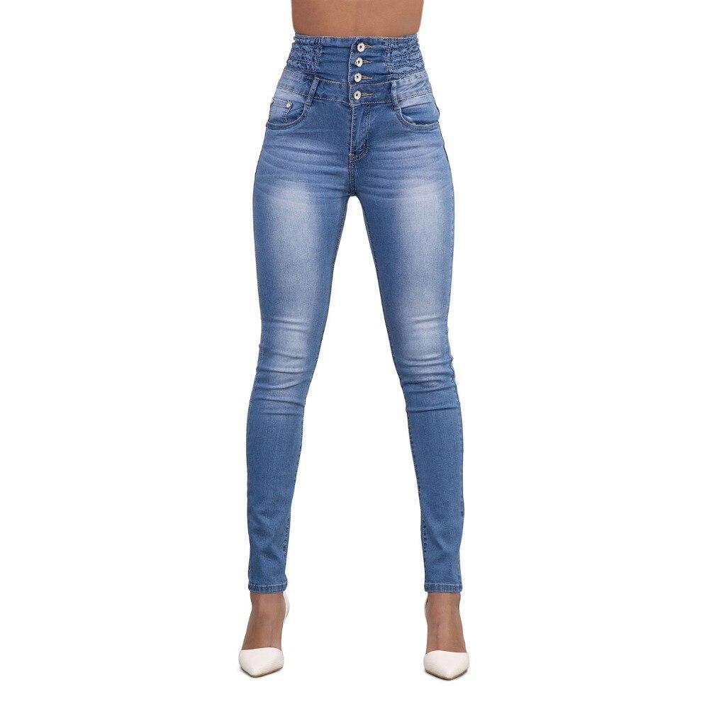 Bottoms New Arrival Wholesale Woman Denim Pencil Pants Top Brand Stretch Jeans High Waist Pants Women High Waist Jeans