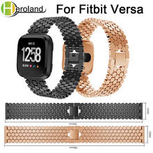 Wrist Band Replacement Stainless Steel Strap For Fitbit Versa band metal Smart Watch Band Strap bracelet 2018 new fashion Luxury accessories stainless steel bracelet replacement watchbands for fitbit versa smart band metal strap wrist band with diamond new