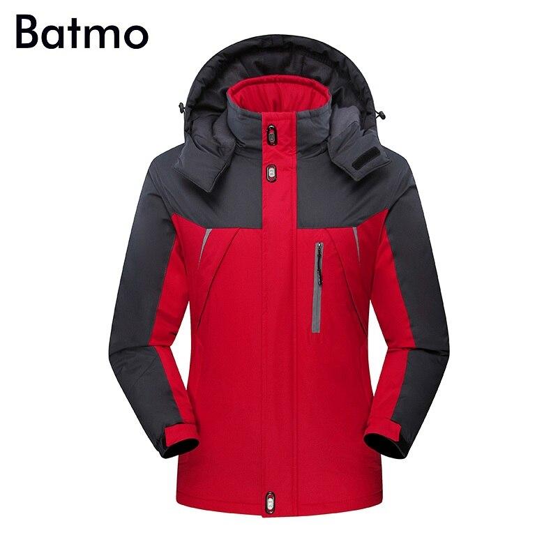 Batmo 2018 nouveauté hiver haute qualité chaud ski-wear veste à capuche hommes, hommes hiver chaud manteau, grande taille S-5XL