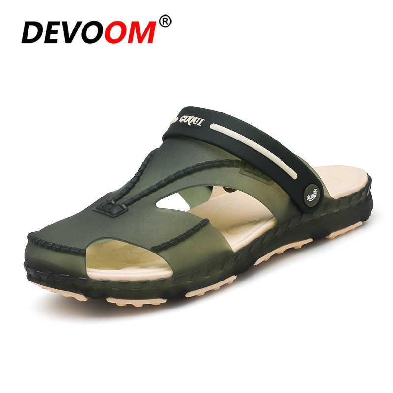 7622fd74d Fishing Slippers Mens Sandals Summer Beach Slipper New 2018 Lovers Unisex  Outdoor Sand Slides Fashion Jelly