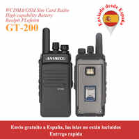 2pcs/lot Anysecu 3G-GT200 unlinited 3G WCDMA GSM Portable POC network radio work with REAL PTT
