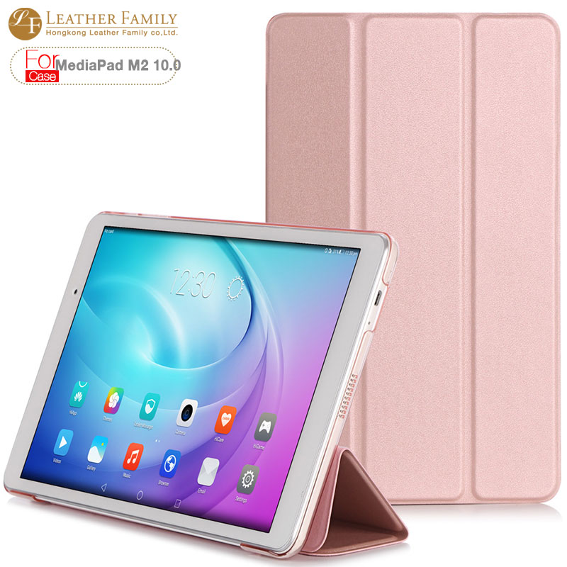 Case for huawei mediapad m2 10.1 inch Slim Folio PU Leather Case Flip Cover For MediaPad M2 10.0 Tablet Case Smart cover mediapad m3 lite 8 0 skin ultra slim cartoon stand pu leather case cover for huawei mediapad m3 lite 8 0 cpn w09 cpn al00 8