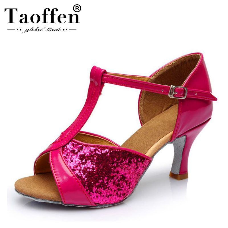 TAOFFEN High Quality New Fashion Wholesale Girls Children/Child/Kids Ballroom Tango Salsa Latin Dance Shoes Low Heel ShoesTAOFFEN High Quality New Fashion Wholesale Girls Children/Child/Kids Ballroom Tango Salsa Latin Dance Shoes Low Heel Shoes