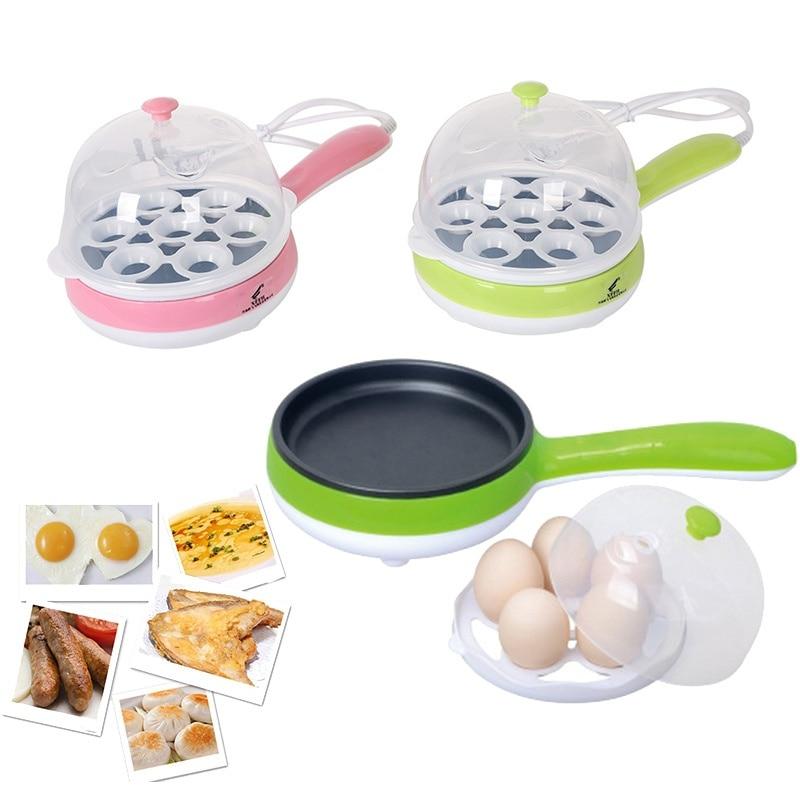 220 В/50 Гц мини-электрическая сковорода Яичница блины стейк пару яйцеваркой-4