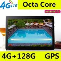 10,1 дюймов 3g 4 г LTE Телефонный звонок Android 7,0 Octa Core ips планшетных ПК Wi Fi Оперативная память 4 г 128 г встроенная память 7 8 9 10 android tablet pc 4 ГБ 128 ГБ
