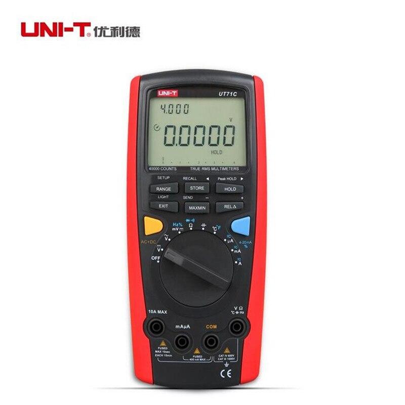 UNI-T UT71C Intelligent LCD Digital Volt Ampere Ohm Capacitance Temp Tester Meter uni t ut70b lcd digital multimeter volt amp ohm temp capacitance tester