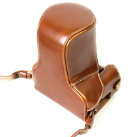 Deluxe Edition PU Leather Camera Bag Case Cover For Canon EOS M6 EOSM6 15 45mm 18 150mm Lens With Strap Open Battery Design
