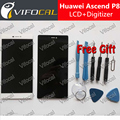 For Huawei P8 LCD Display + Touch Screen + Tools 100% new Digitizer Assembly Replacement For Huawei Ascend P8 5.2inch Phone