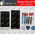 Para huawei p8 display lcd + touch screen + ferramentas 100% nova substituição digitador assembléia para huawei ascend p8 5.2 polegadas telefone