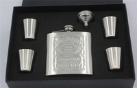 Free Shipping Stainless Steel 6oz Pocket Flask Russian Hip Flask Male Small Portable Mini Bottles Sets