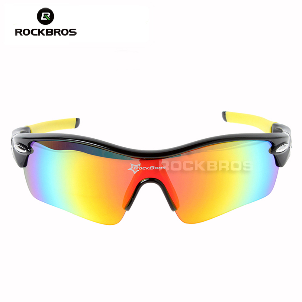 Hot! RockBros Polarized Sun Glasses Outdoor Sports Bicycle Glasses Sunglasses TR90 Goggles Eyewear 5 Lens #10004 veithdia brand unisex retro aluminum tr90 sunglasses polarized lens vintage eyewear accessories sun glasses for men women 6108