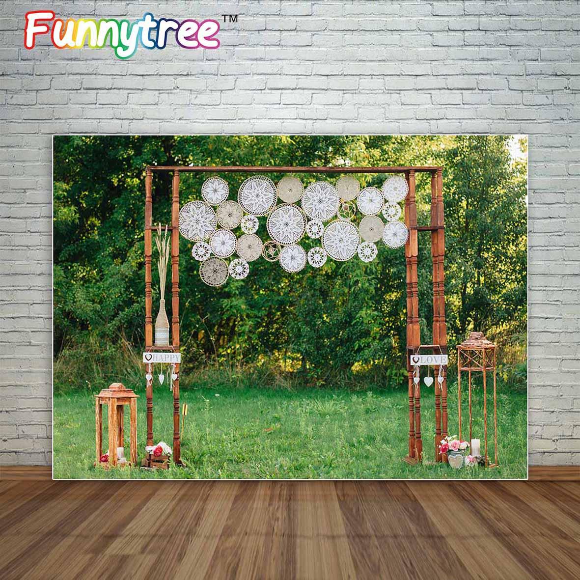 Expressief Allenjoy Wedding Boho Bohemian Stijl Decoratie Boog In Natuur Grasland Fotografische Achtergrond Achtergrond Fond Studio Foto