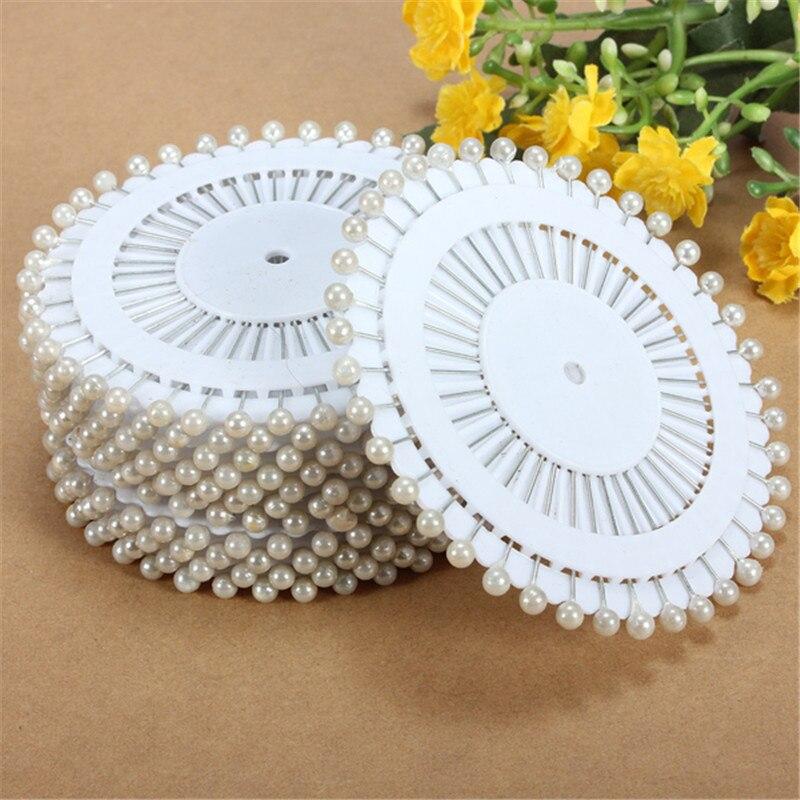 35mm 480 Pcs Blanc Tête Ronde Couture Perle Décoration Couture Pin Artisanat Pour La Maison Jardin BRICOLAGE Artisanat Outil Accessoires