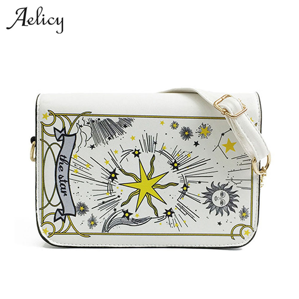 Aelicy Autumn Women Messenger Bags Printing Flap Bag Lady PU Leather Flap Bag Small Female Handbags Bolsa Feminina 2 Colors 0918Aelicy Autumn Women Messenger Bags Printing Flap Bag Lady PU Leather Flap Bag Small Female Handbags Bolsa Feminina 2 Colors 0918