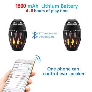 Image 5 - Draadloze Speaker Led Vlam Licht Speaker Draagbare Bluetooth Luidspreker Outdoor Speler Met Led Flame Torch Licht Flikkeren Licht