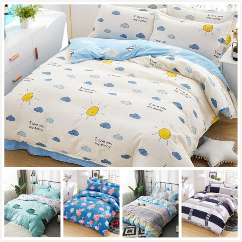 Power Source Kids Soft Skin Cotton Bedding Sets 3pcs/4pcs Bedlinens Single Twin Queen King Size Duvet Sheet Quilt Pillow Case 1.35m 1.5m 1.8m A Wide Selection Of Colours And Designs