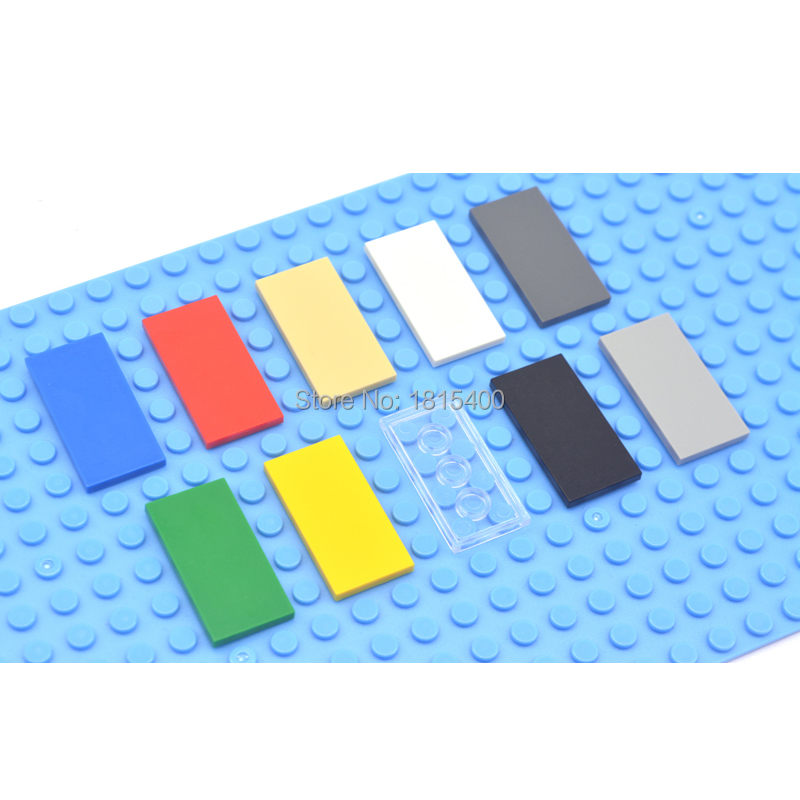 Enlighten Block Building Brick Toys Super Heros Bricks Compatible With LEGOES Tile 2x4 Flat Plastic DIY Toys  For Children 50pcs