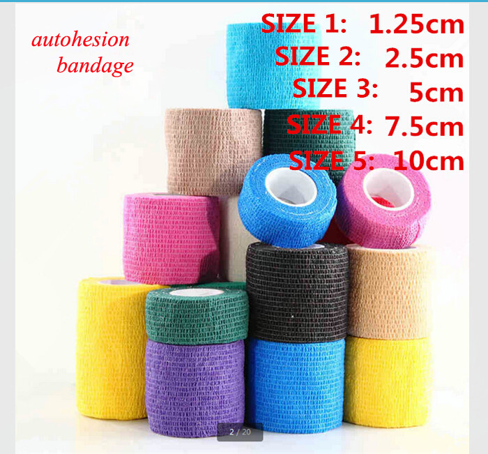 First-aid Medical Bandage Waterproof Sports Kinesiology Tape Elastic Self-adhesive Muscle Bandage Strain Injury Support medical orthopedics fracture macromolecule fixed support first aid assula for animal