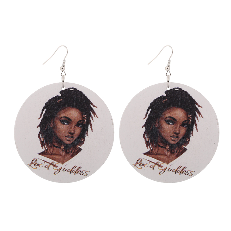 Capable Qiaohe 1 Pair Good Quality Wood Earrings African Woman Wooden Brincos Round Pendant 6cm/2.36 E260 Aromatic Flavor Jewelry & Accessories