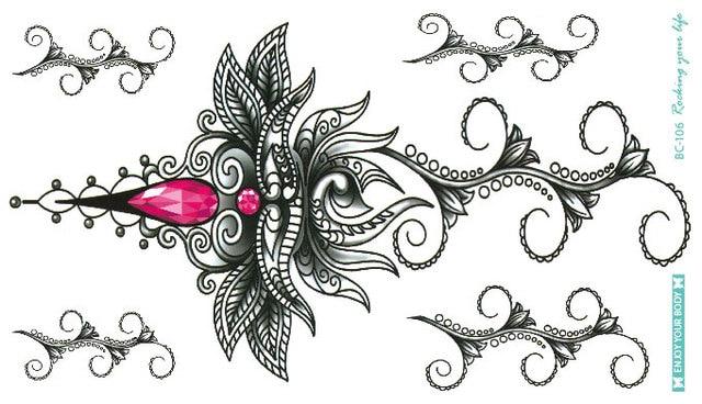 bc 106 neueste mandala blume diamant tattoo wasserdicht. Black Bedroom Furniture Sets. Home Design Ideas