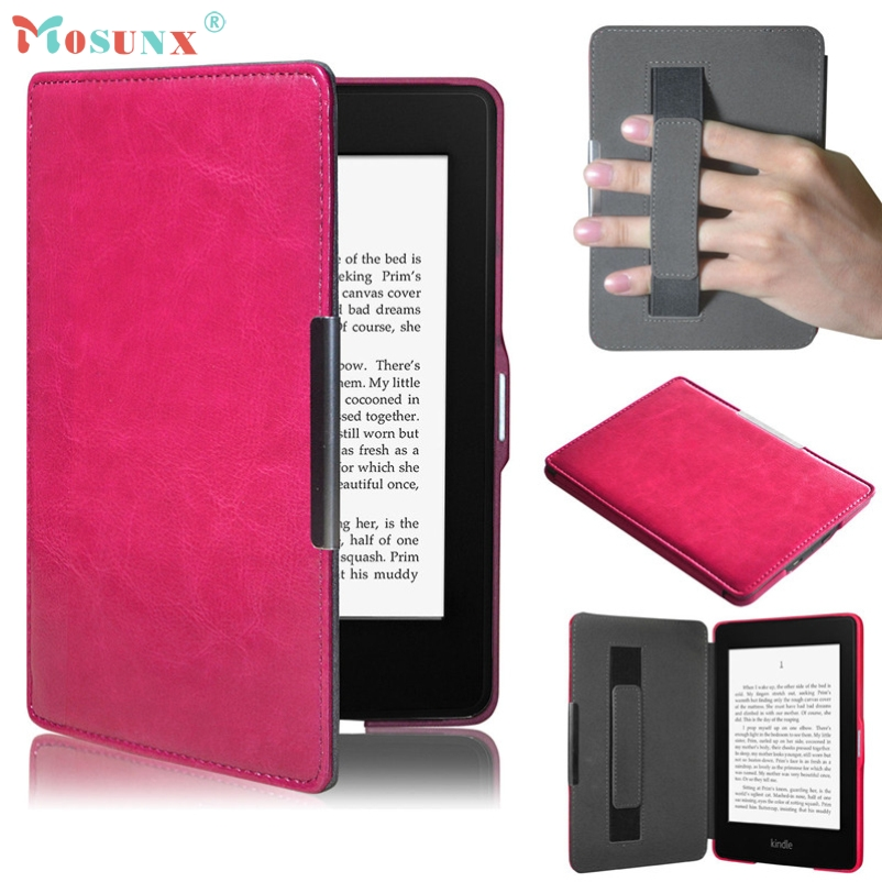 Hot sale Tablet Case Cover Mosunx Magnetic Premium Ultra Slim Leather Smart Case Cover For Amazon Kindle Paperwhite 5 Gifts cartoon painted flower owl for kindle paperwhite 1 2 3 case flip bracket stand pu cover for amazon kindle paperwhite 1 2 3 case