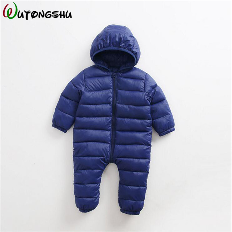 7 Colors Baby Boy Rompers Newborn Baby Girl Thermal Cotton Winter Snowsuit Baby Cute Hooded Jumpsuit Newborn Baby Clothing agkupel children baby romper baby girl clothing cotton newborn baby rompers kids lovely cute rabbit hooded long sleeves jumpsuit