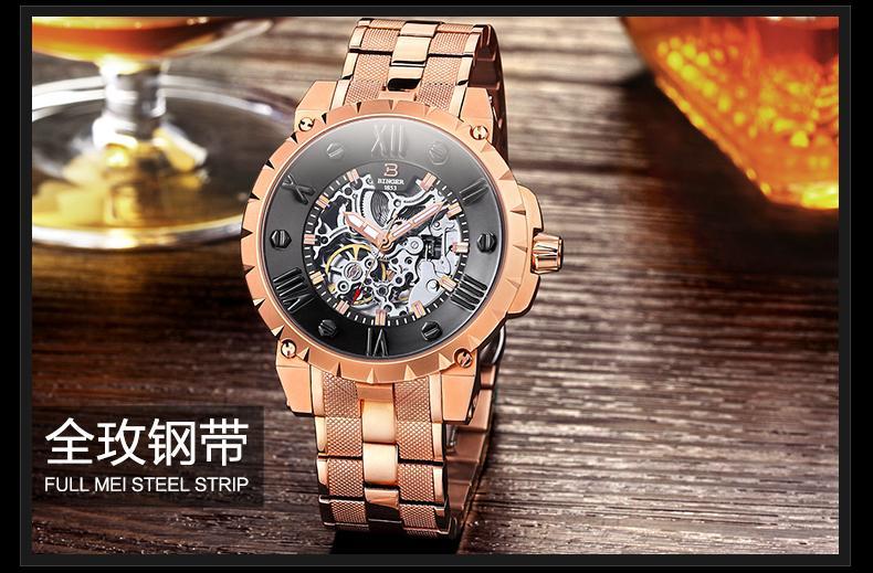 Šveicarija BINGE laikrodžiai vyrams prabangos prekės mechaninis - Vyriški laikrodžiai - Nuotrauka 2