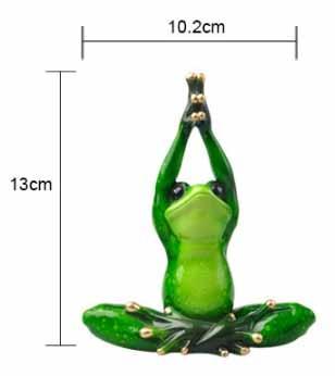 Funny Yoga Frog Figurine 3