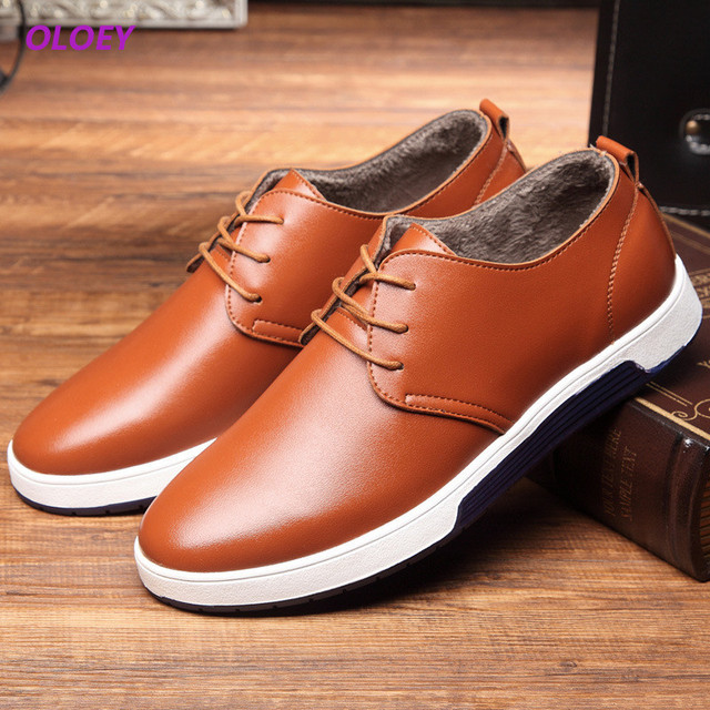 12263e7887698 New 2017 Brand Luxury Men s Cashmere Warm Oxford Large Casual Men Loafers  Sneakers Winter Leather Walking Shoes Trainers Best