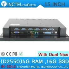 15 ДЮЙМОВ сенсорный экран dual lan компьютера 4 Г RAM 16 Г SSD