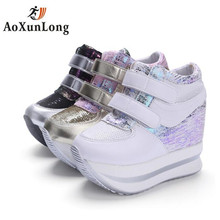 Autumn Winter Women's Boots Breathable Mesh Wedges Height Increase Women's Casual Shoes Flats Ankle Leather Women Boots Size 39