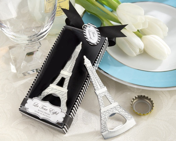Free shipping home creative practiical party Eiffel Tower bottle opener wedding favors giveawayfor guest drink ware
