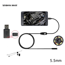 Android endoscope camera 5.5mm lens, wire length 1m 2m 3.5m support Win computer also