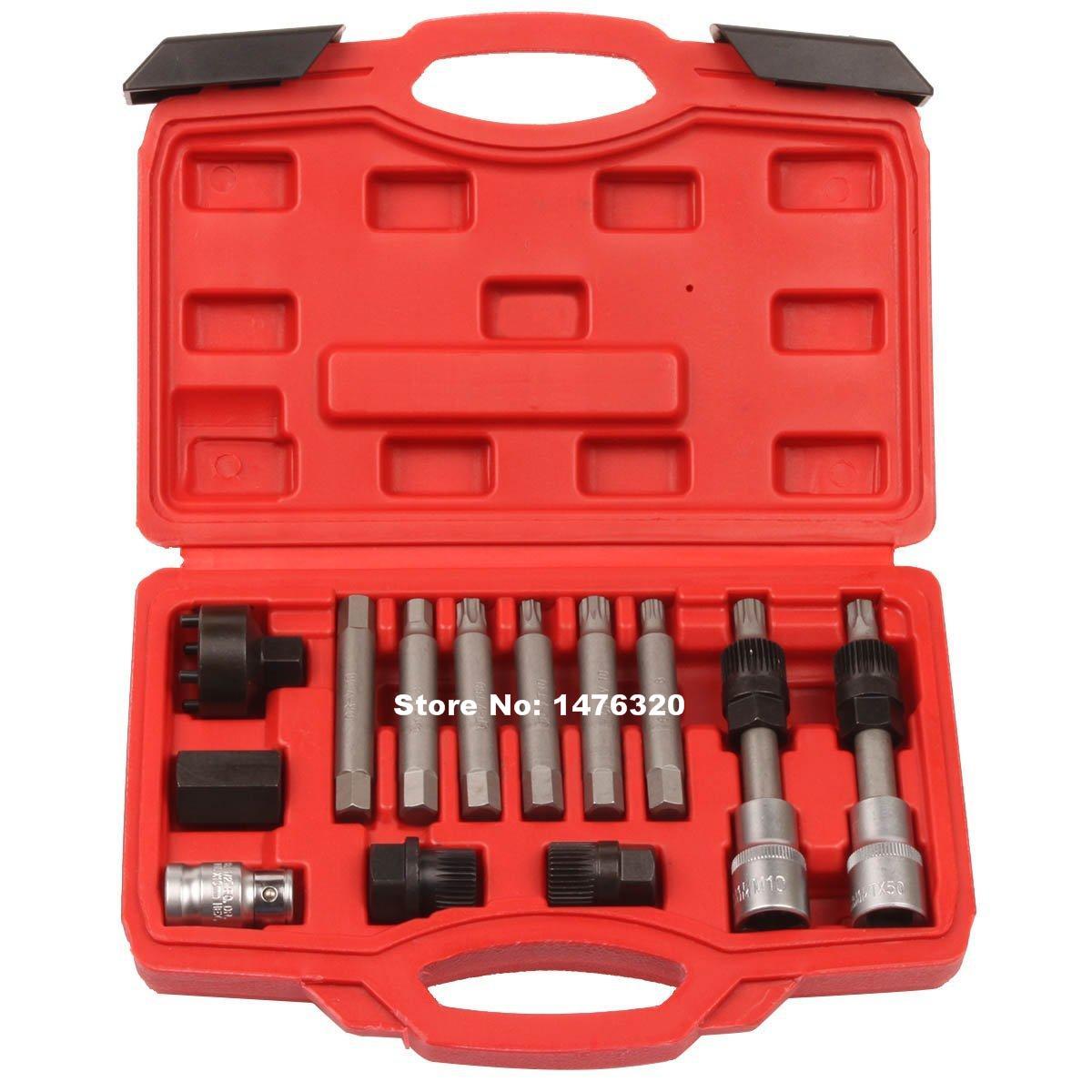 13PCS Automotive Alternator Pulley Flywheel Removal font b Tool b font Kit AT2043